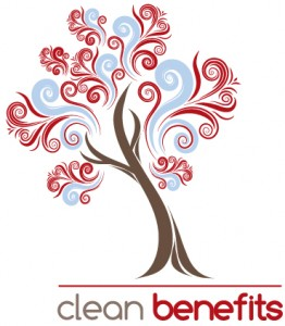 Clean Benefits Logo serving Denver Reflexology needs