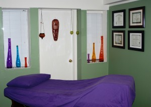 Reflexology, Aromatherapy, Bach, Cupping consultation room